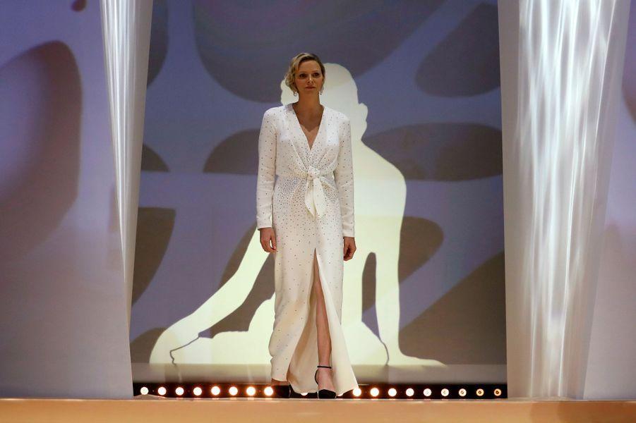 La princesse Charlène de Monaco à Monaco, le 18 juin 2019