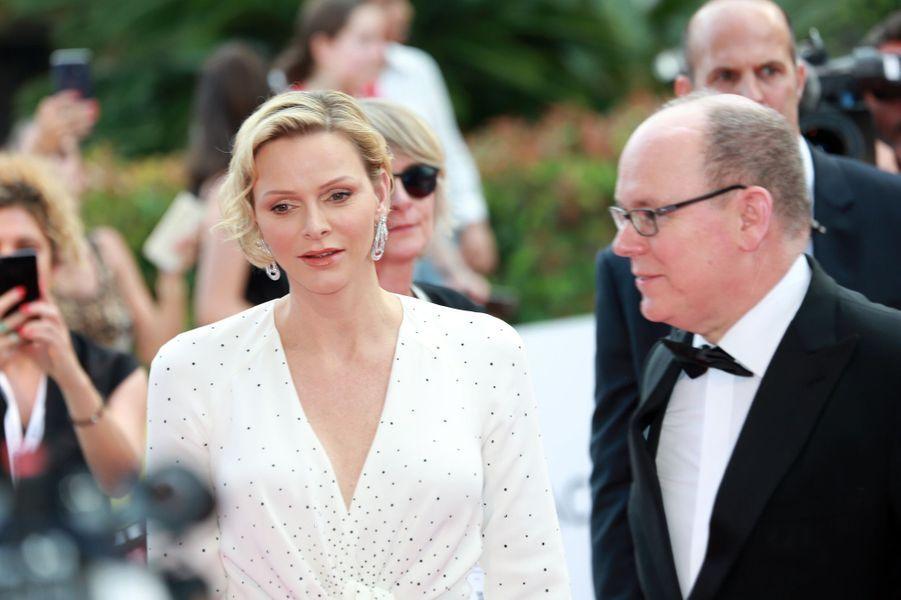 La princesse Charlène et le prince Albert II de Monaco, à Monaco le 18 juin 2019