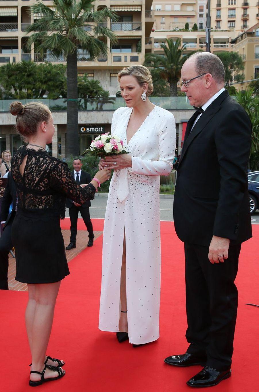 La princesse Charlène et le prince Albert II de Monaco à Monaco, le 18 juin 2019