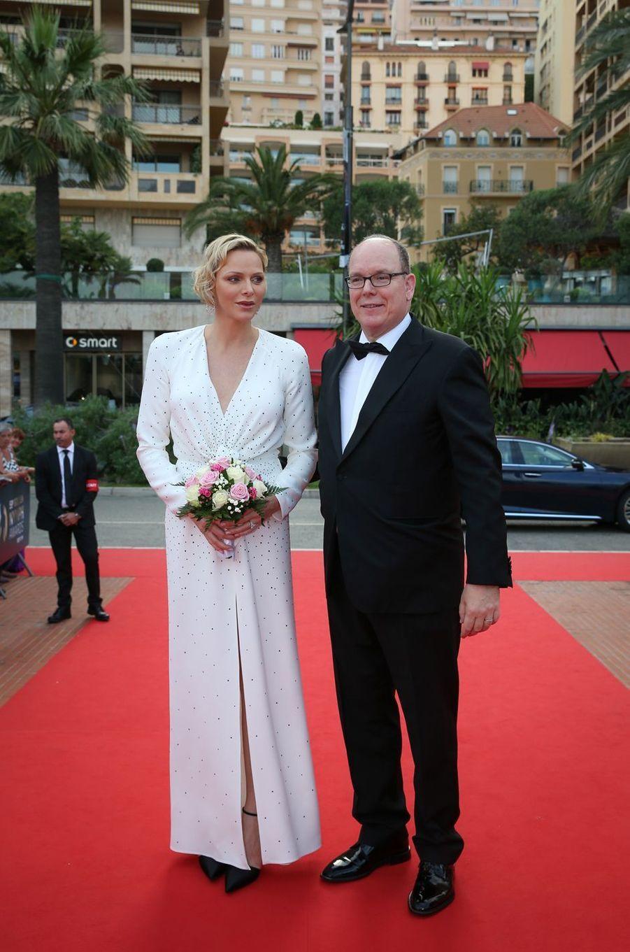 Le prince Albert II et la princesse Charlène de Monaco à Monaco, le 18 juin 2019