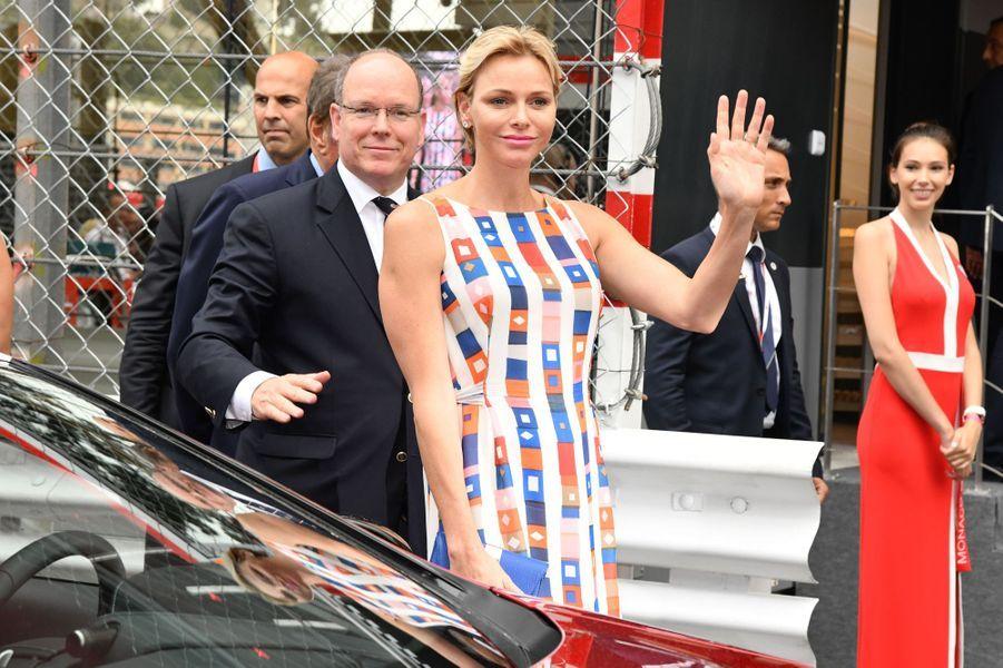 Le prince Albert II de Monaco et la princesse Charlène à Monaco, le 27 mai 2018