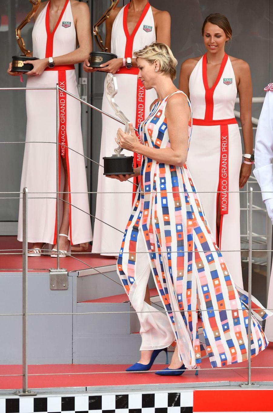 La princesse Charlène de Monaco à Monaco, le 27 mai 2018
