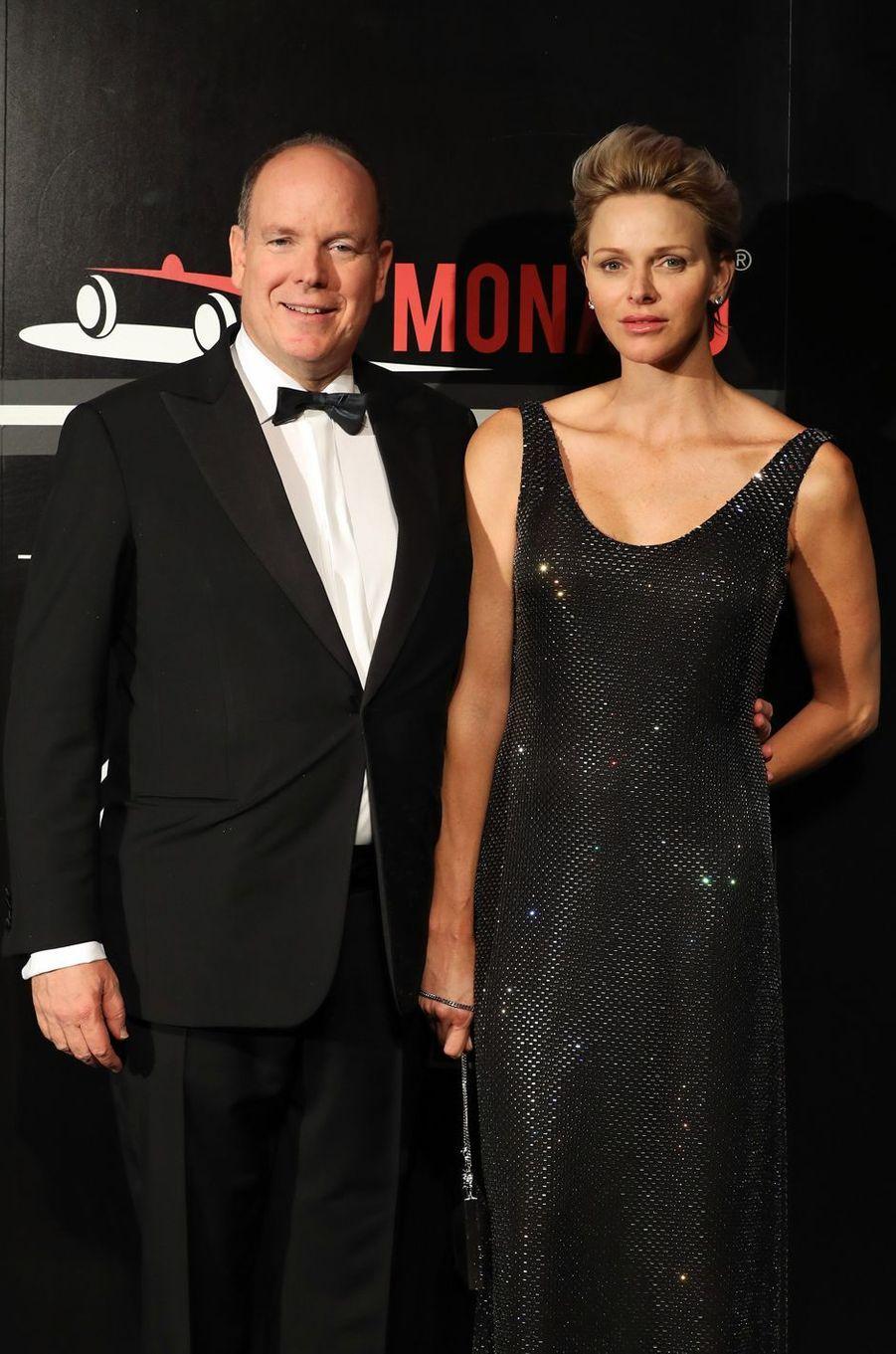 La princesse Charlène et le prince Albert II de Monaco à Monaco, le 27 mai 2018