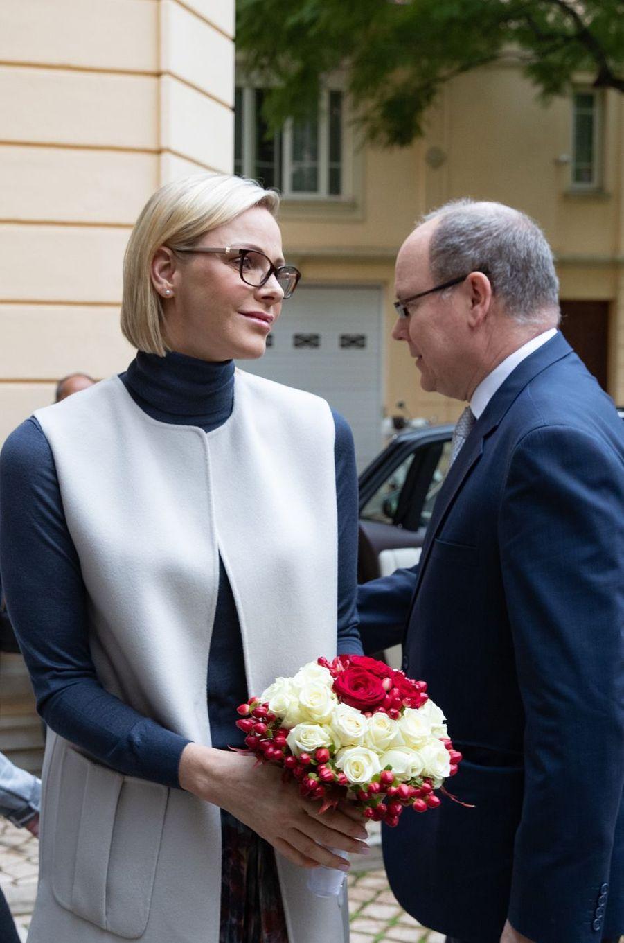 La princesse Charlène et le prince Albert II de Monaco à Monaco, le 15 novembre 2019