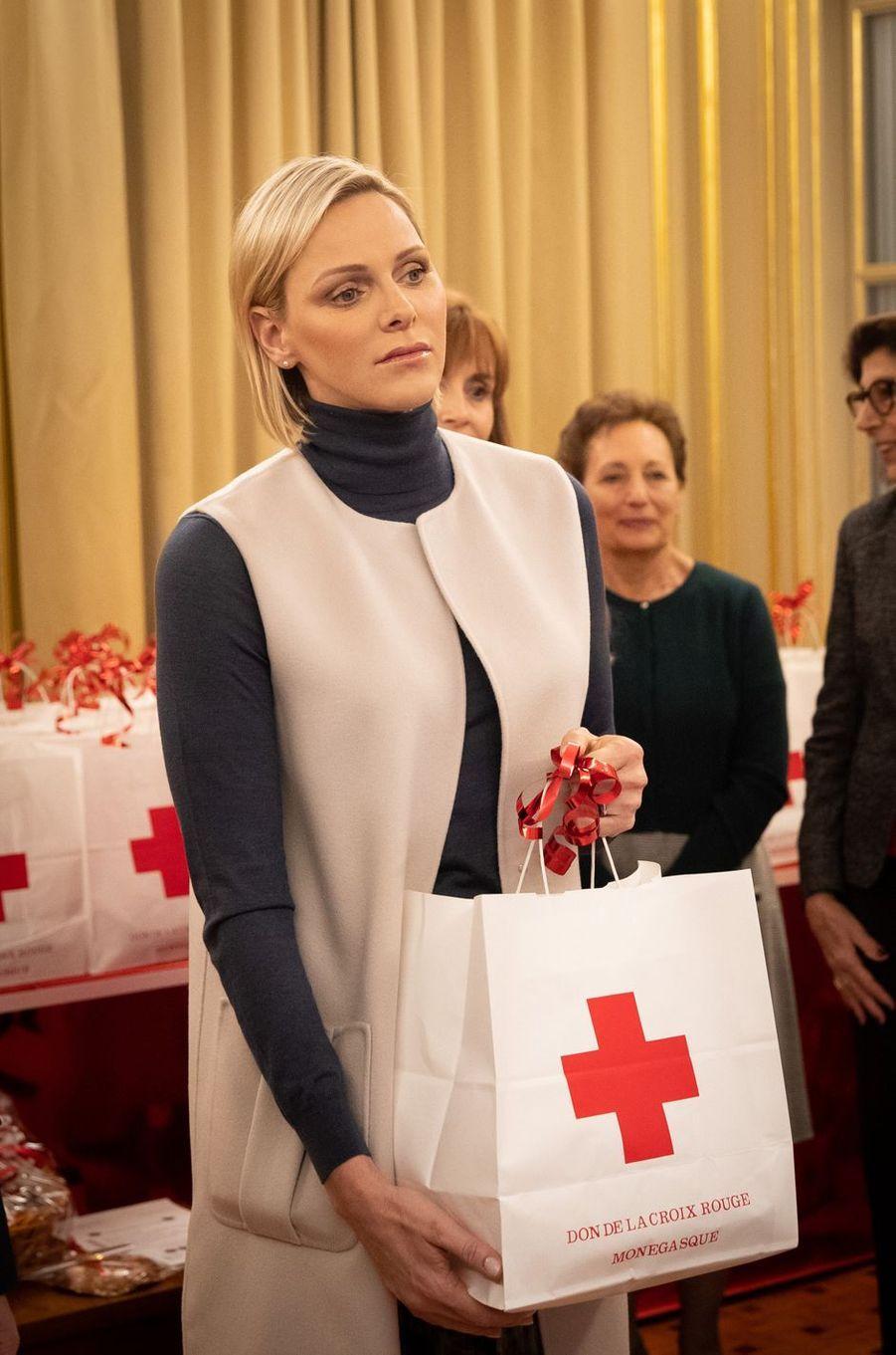 La princesse Charlène de Monaco à Monaco, le 15 novembre 2019