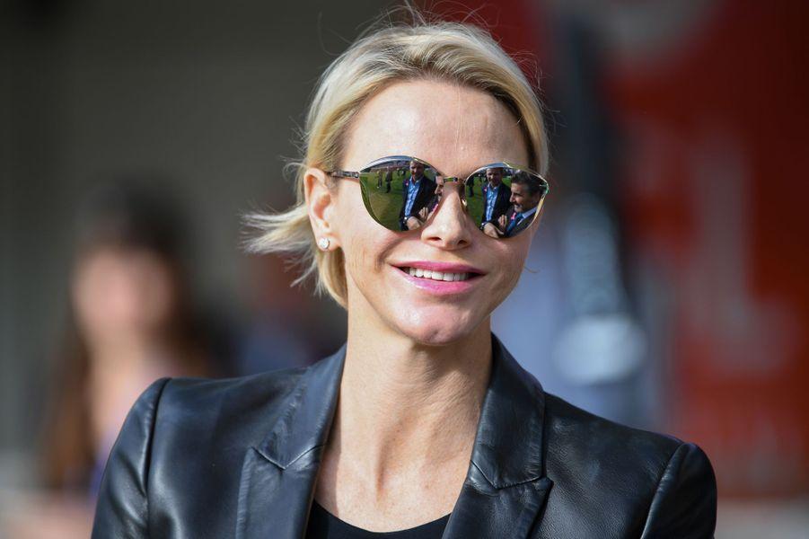 La princesse Charlène de Monaco radieuse à Montpellier, le 7 octobre 2018