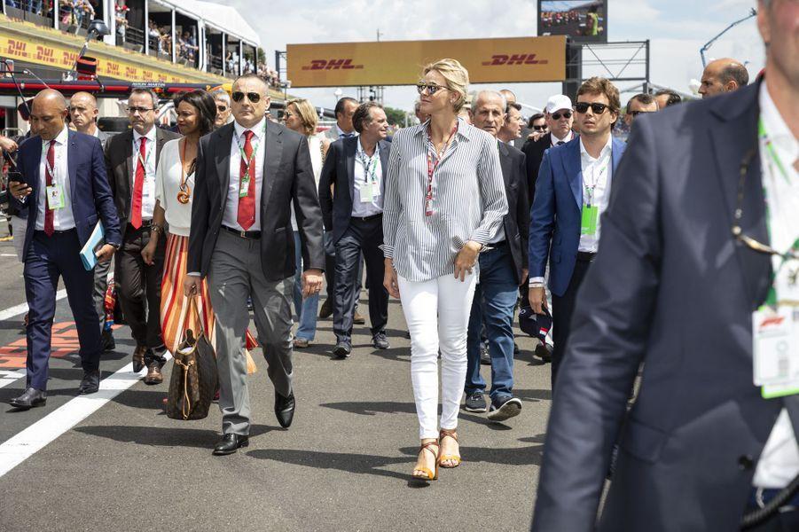La princesse Charlène de Monaco sur le circuit du Castellet, le 24 juin 2018