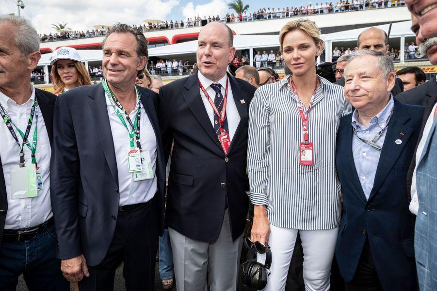La princesse Charlène et le prince Albert II de Monaco sur le circuit du Castellet, le 24 juin 2018