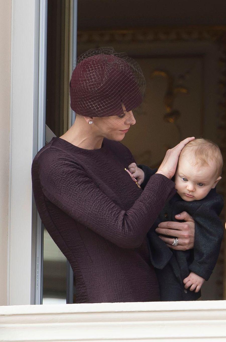 La princesse Charlène de Monaco avec sa fille la princesse Gabriella, le 19 novembre 2015