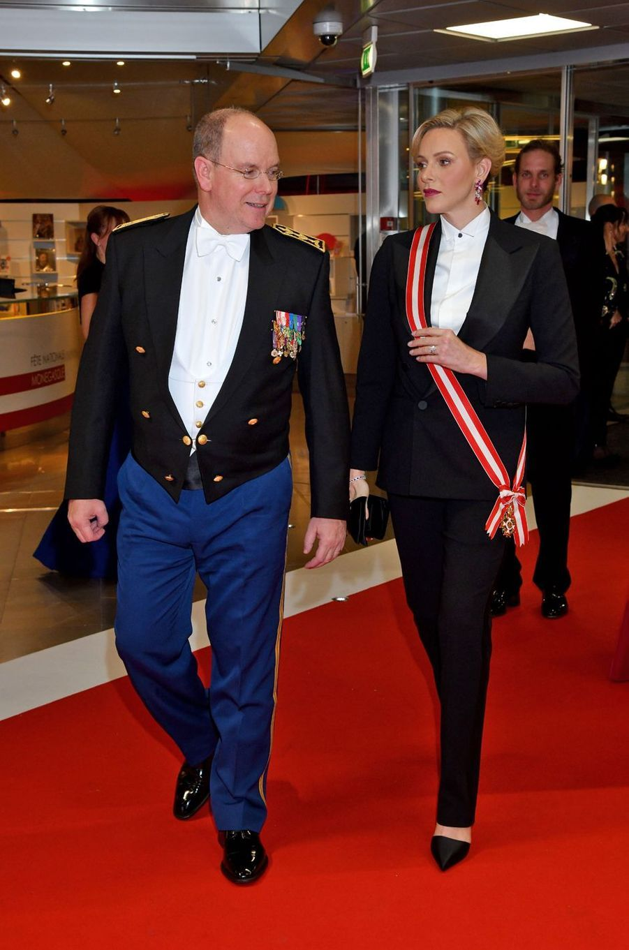 Le prince Albert II et la princesse Charlène de Monaco à Monaco, le 19 novembre 2019