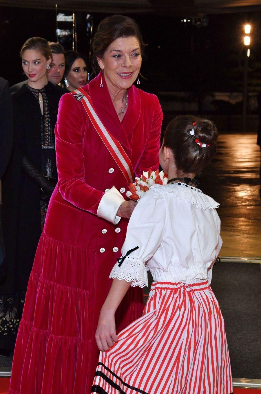 La princesse Caroline de Hanovre et ses belles-filles à Monaco, le 19 novembre 2019