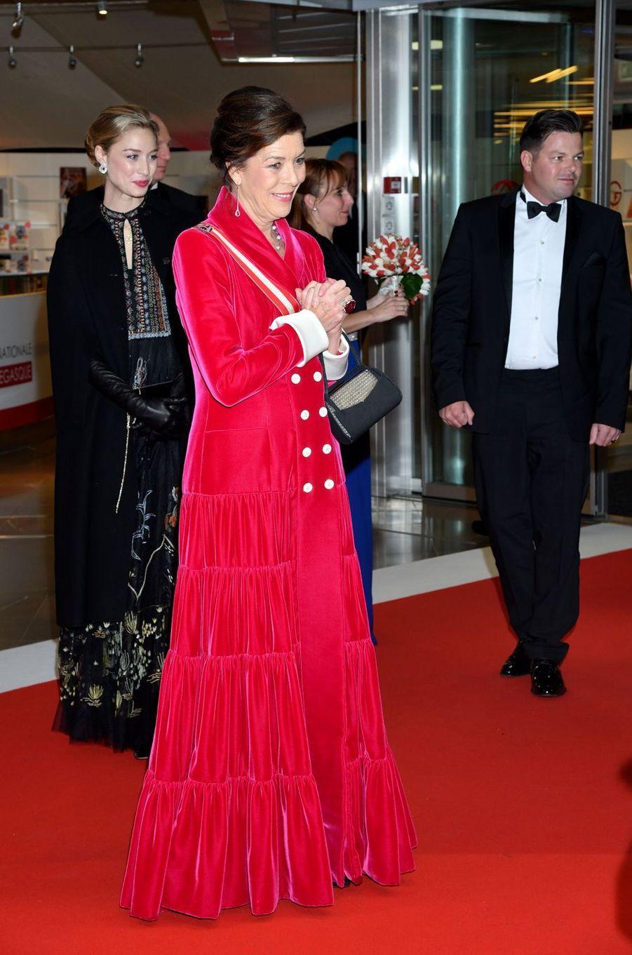 La princesse Caroline de Hanovre avec Beatrice Borromeo-Casiraghi à Monaco, le 19 novembre 2019