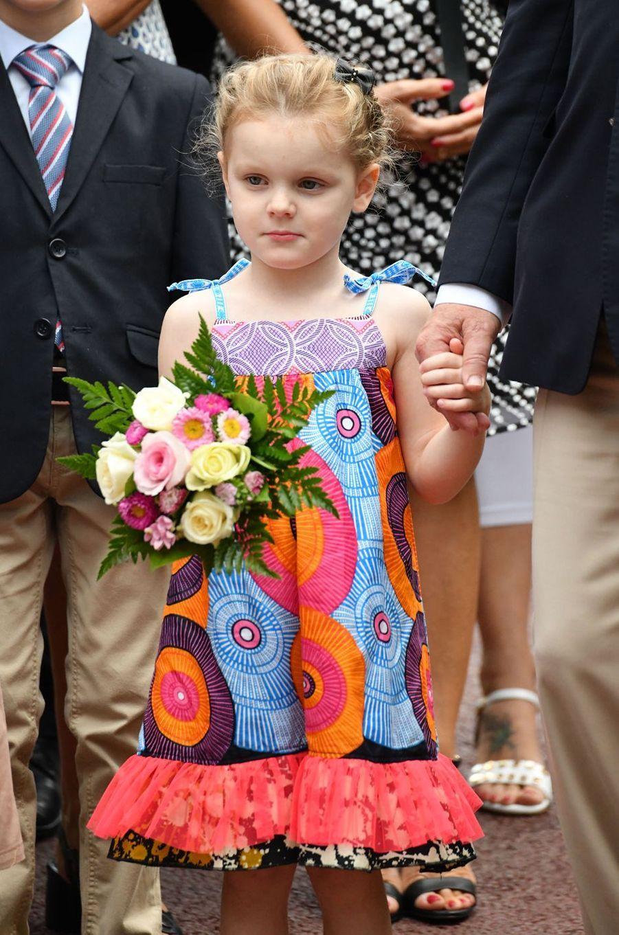 La princesse Gabriella de Monaco à Monaco, le 6 septembre 2019