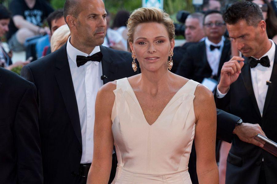La princesse Charlène de Monaco rayonnante à Monaco, le 19 juin 2018