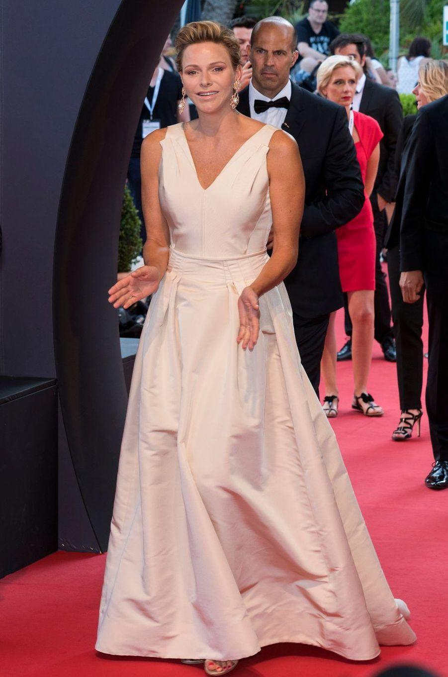 La princesse Charlène de Monaco lors de la clôture du 58e Festival de télévision de Monte-Carlo à Monaco, le 19 juin 2018