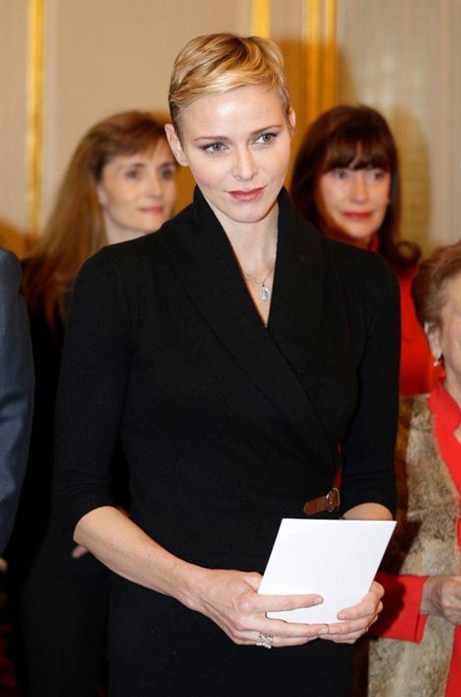 La princesse Charlène de Monaco à Monaco, le 17 novembre 2015