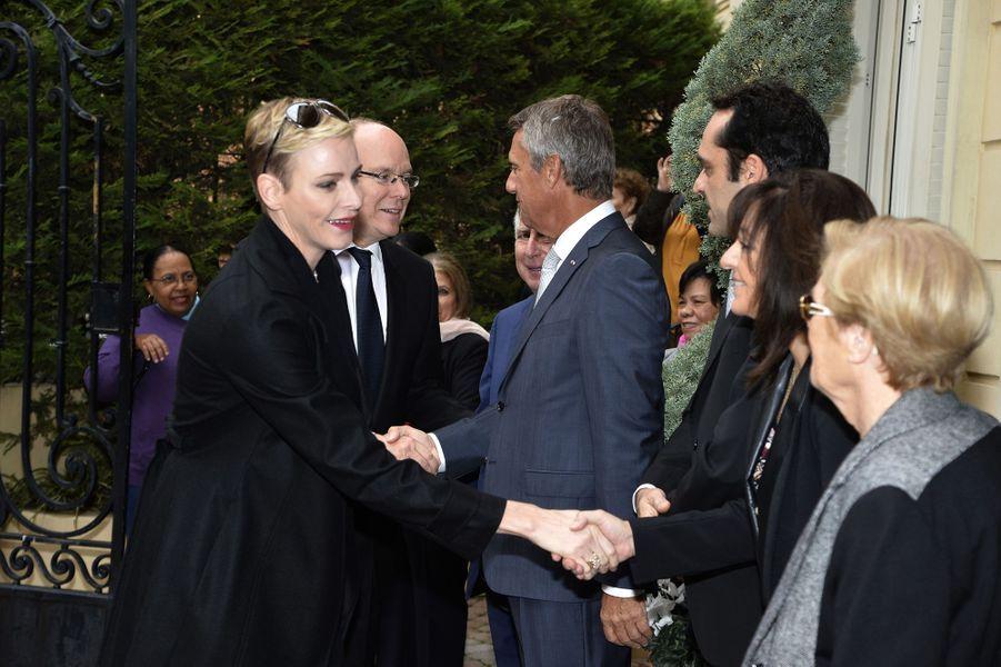 Le prince Albert II de Monaco et la princesse Charlène à Monaco, le 17 novembre 2015