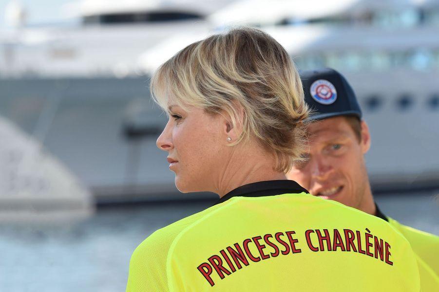 La princesse Charlène de Monaco à Monaco, le 17 juin 2018