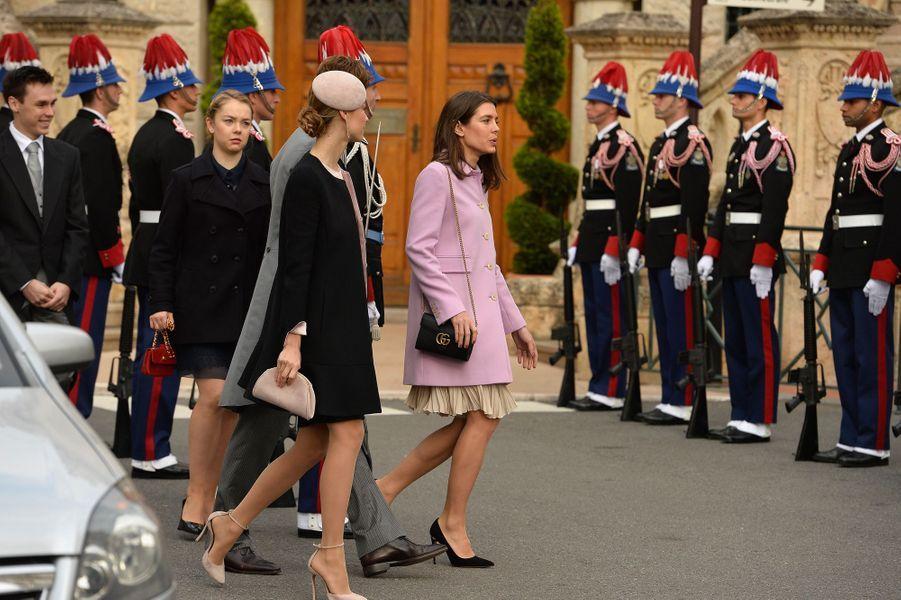 Charlotte Casiraghi, Beatrice Borromeo et Louis Casiraghi, la princesse Alexandra de Hanovre et Louis Ducruet à Monaco, le 19 novembre 2015