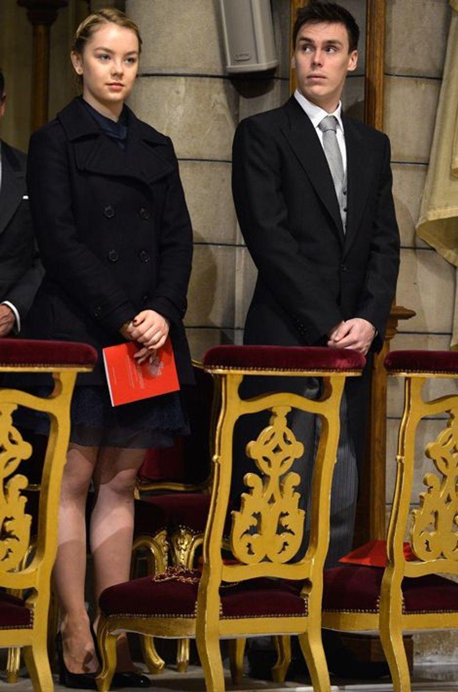 La princesse Alexandra de Hanovre et son cousin Louis Ducruet à Monaco, le 19 novembre 2015