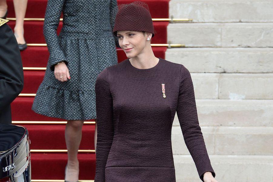 La princesse Charlène de Monaco à Monaco, le 19 novembre 2015