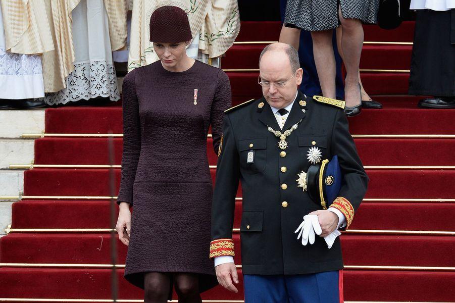 La princesse Charlène et le prince Albert de Monaco, à Monaco le 19 novembre 2015