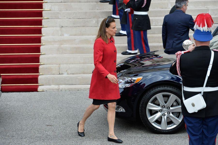 La princesse Stéphanie de Monaco, à Monaco le 19 novembre 2015