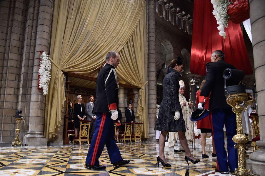Le prince Albert II de Monaco et la princesse Caroline de Hanovre à Monaco, le 19 novembre 2015