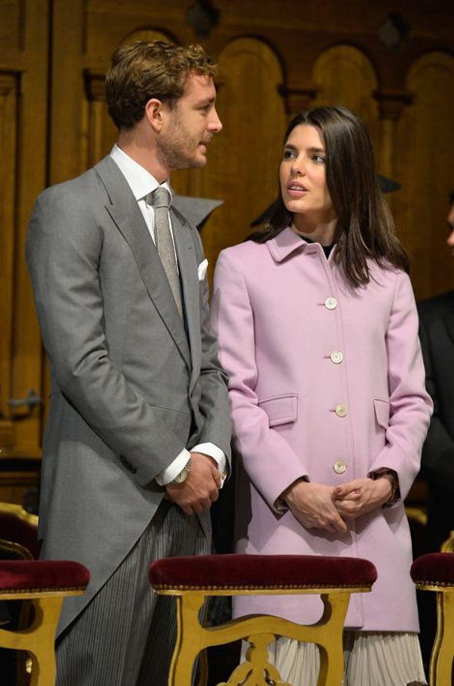 Pierre et Charlotte Casiraghi à Monaco, le 19 novembre 2015