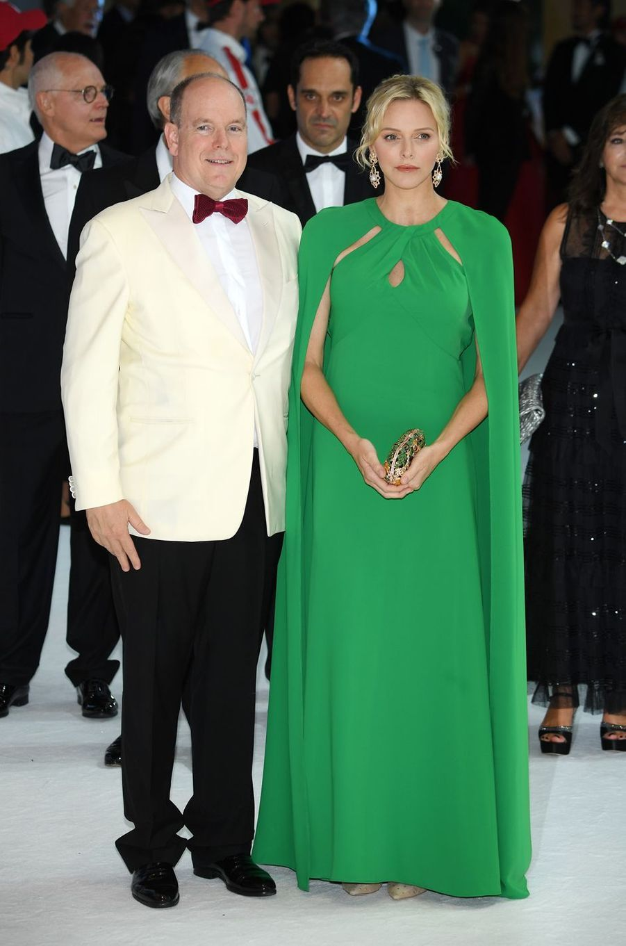 La princesse Charlène de Monaco avec le prince Albert II à Monaco, le 26 juillet 2019