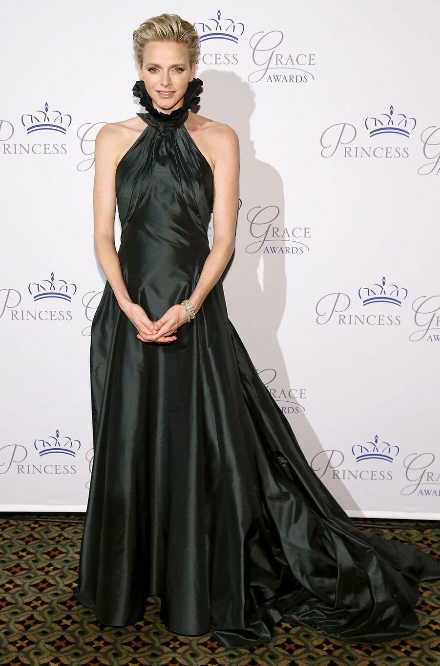 La princesse Charlène de Monaco à New York, le 30 octobre 2013