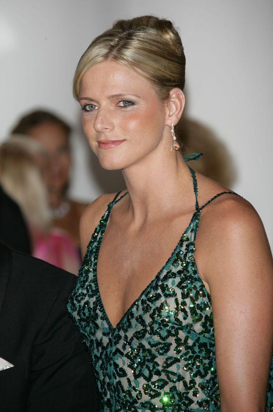 Charlène Wittstock à Monaco, le 4 août 2006