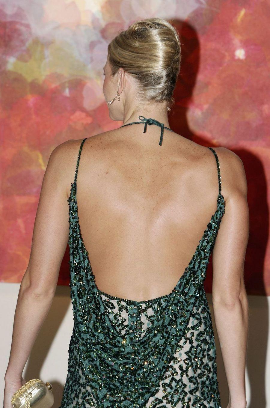 Charlène Wittstock, de dos, à Monaco, le 4 août 2006