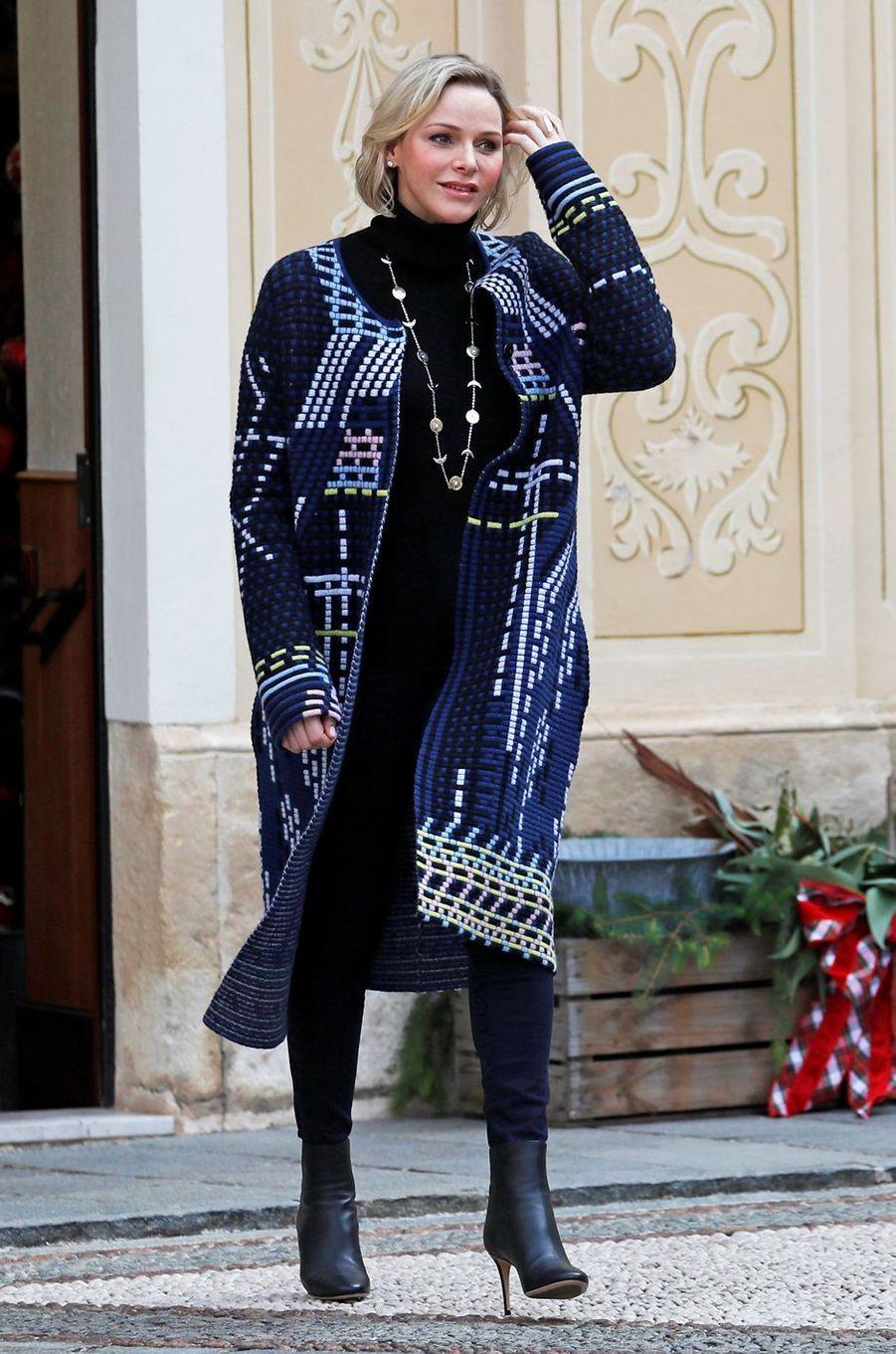 La princesse Charlène de Monaco à Monaco, le 18 décembre 2019