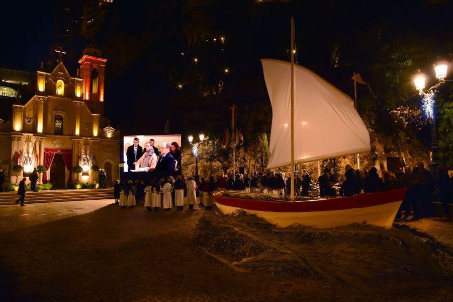 Cérémonie de la Sainte-Dévote à Monaco, le 26 janvier 2016