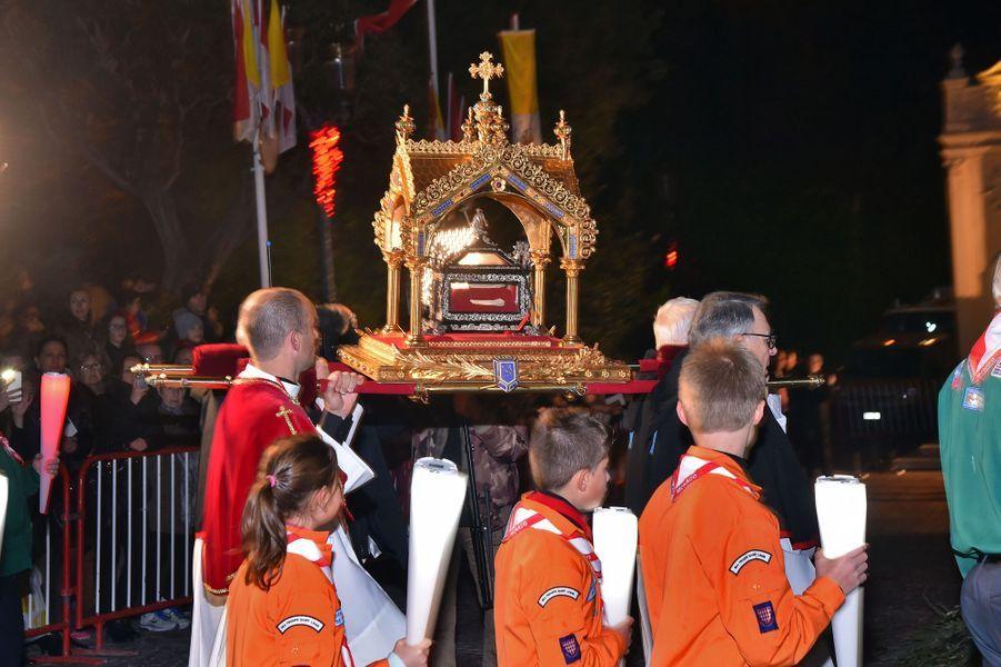 Procession de la Sainte-Dévote à Monaco, le 26 janvier 2016