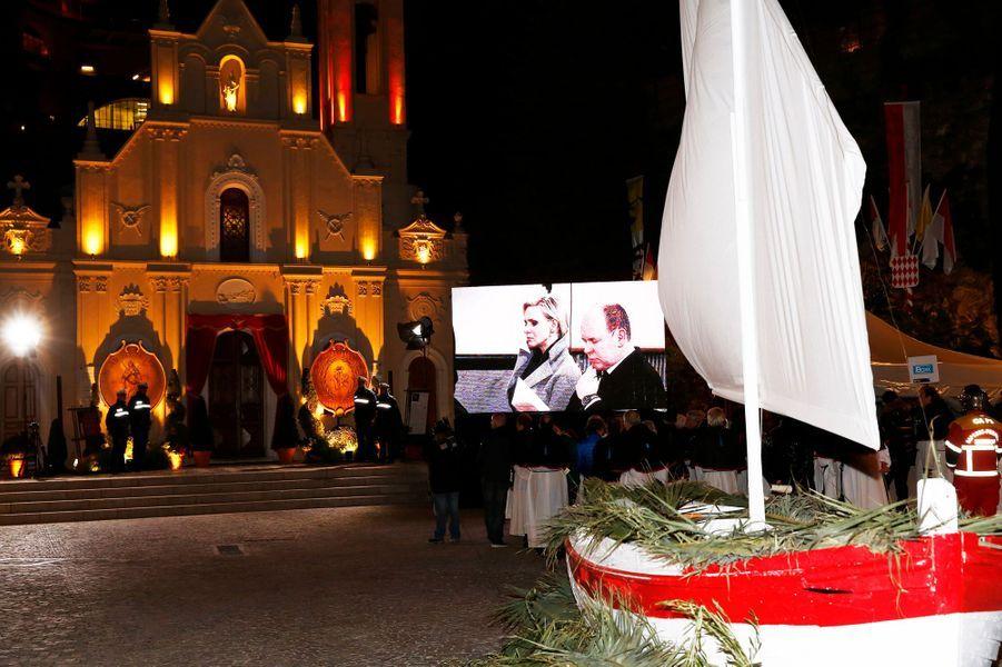 Festivités de Sainte-Dévote à Monaco, le 26 janvier 2015
