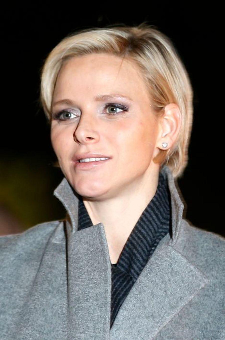 La princesse Charlène lors des festivités de Sainte-Dévote à Monaco, le 26 janvier 2015