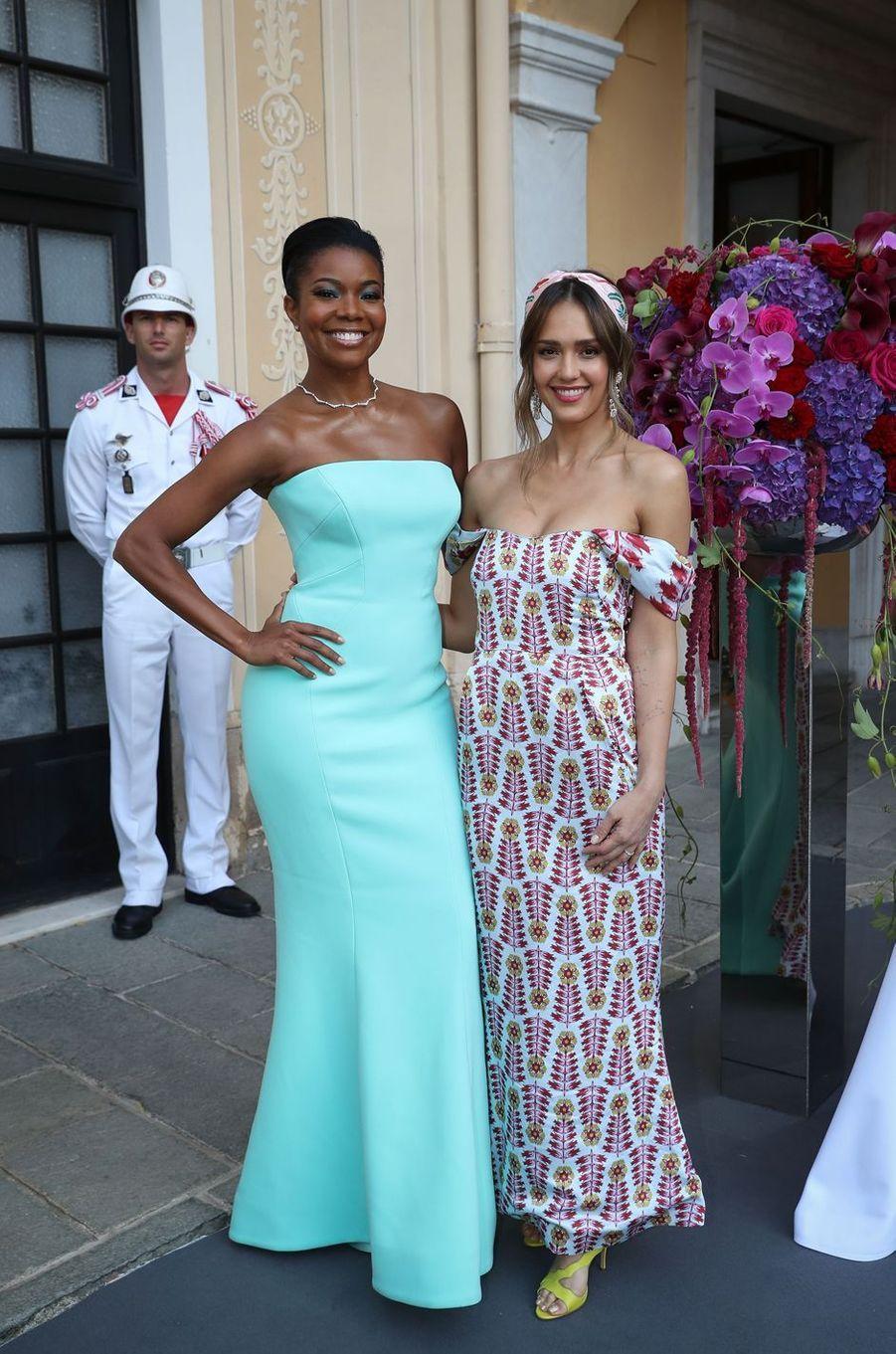Gabrielle Union et Jessica Alba, à Monaco le 16 juin 2019