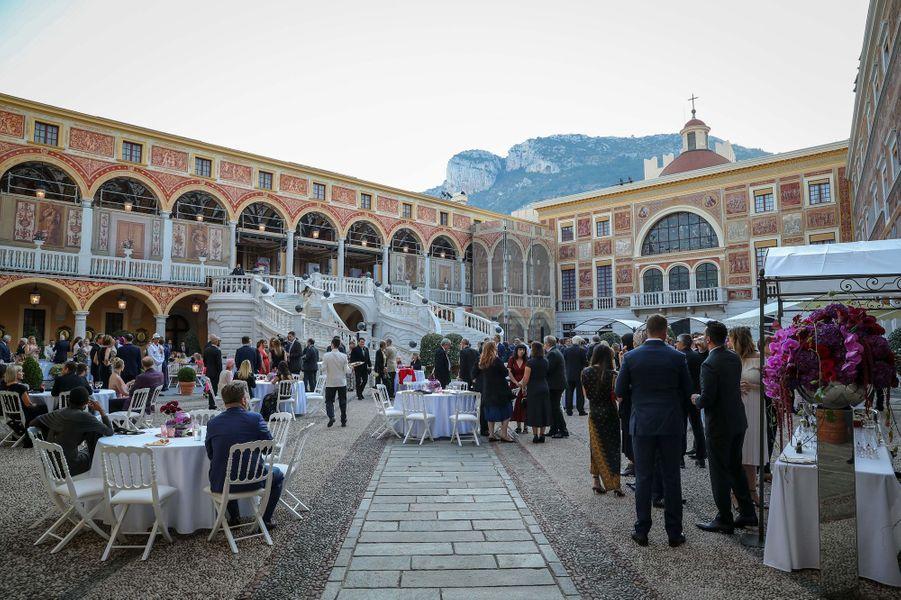 Cocktail au Palais princier de Monaco pour le 59e Festival de télévision de Monte-Carlo, le 16 juin 2019
