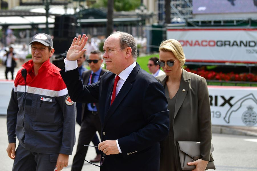 Le prince Albert II et la princesse Charlène de Monaco, à Monaco le 25 mai 2019