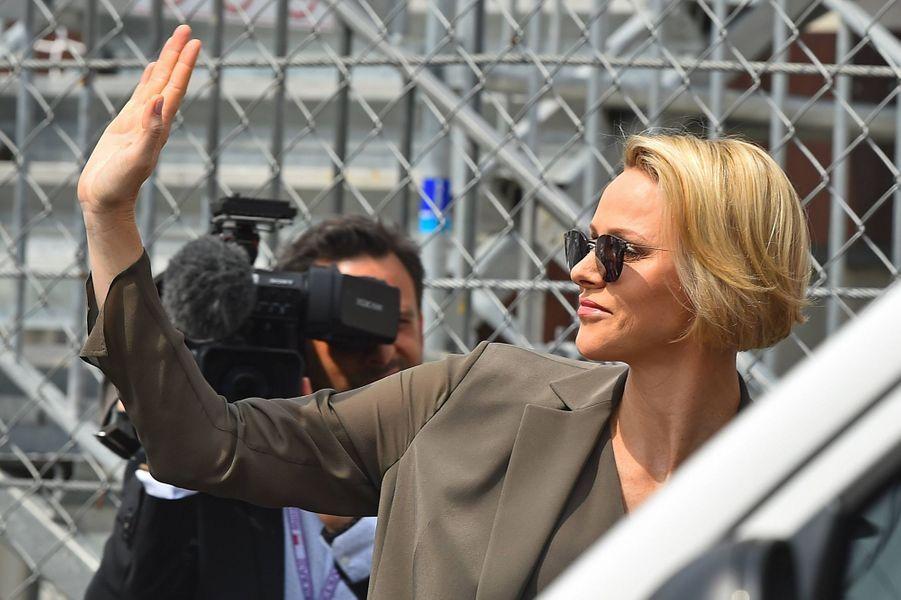 La princesse Charlène de Monaco, à Monaco le 25 mai 2019