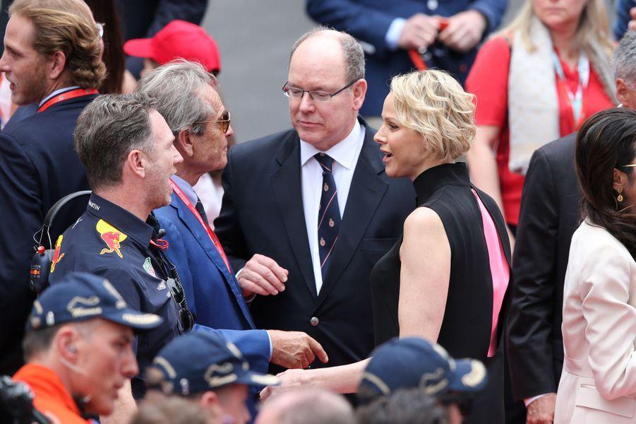 La princesse Charlène et le prince Albert II de Monaco, à Monaco le 26 mai 2019