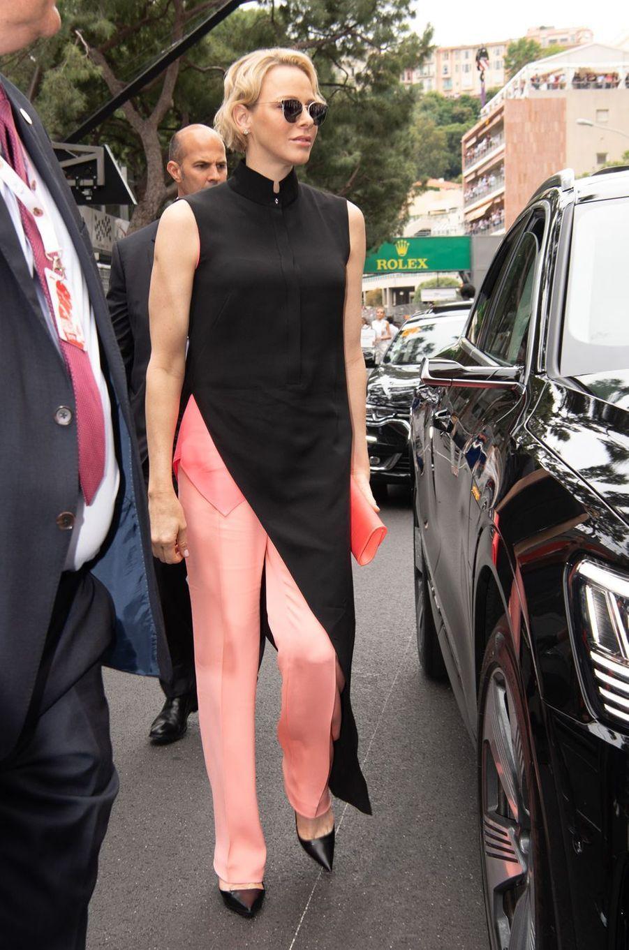 La princesse Charlène de Monaco, à Monaco le 26 mai 2019