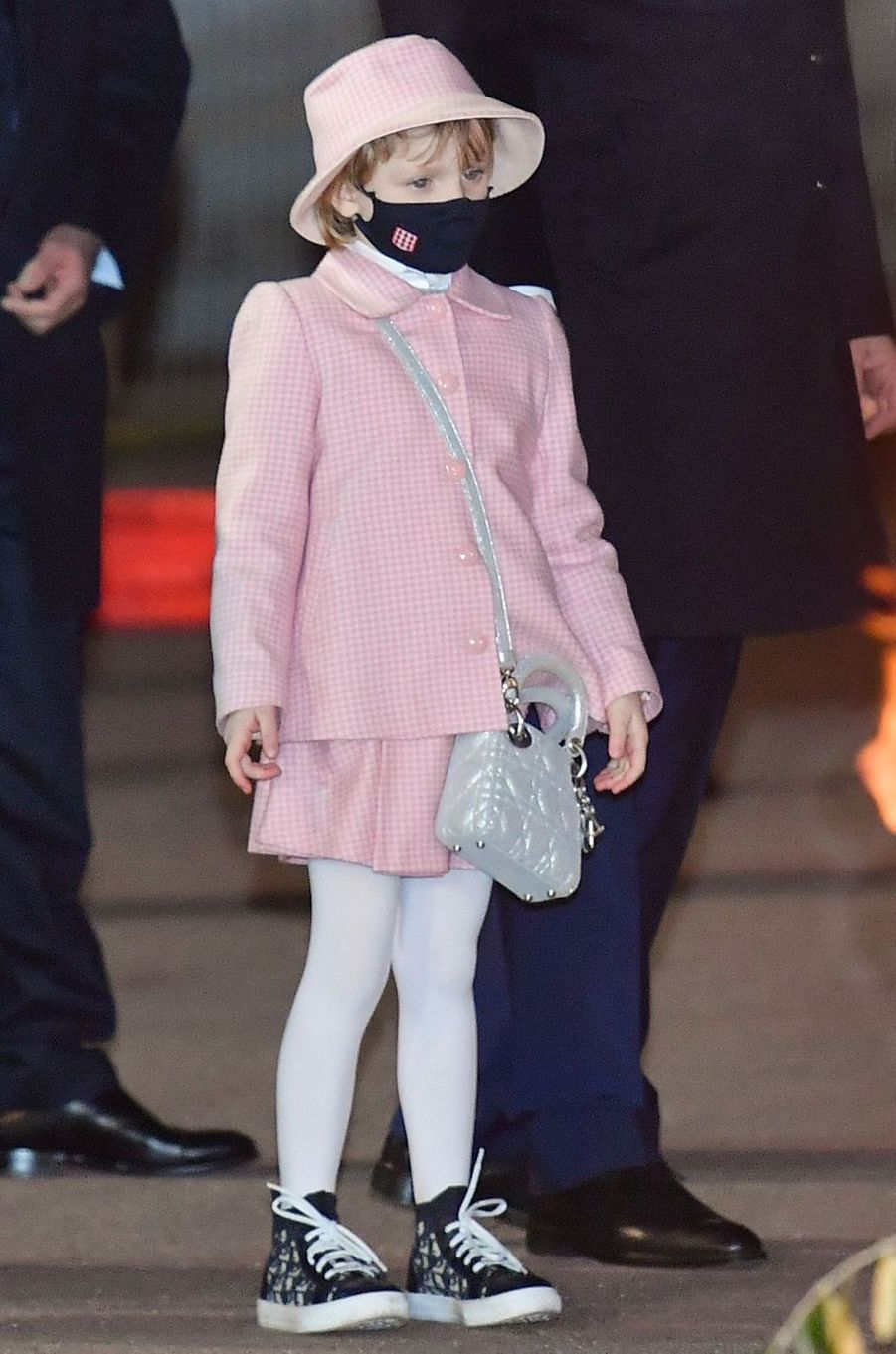 La princesse Gabriella de Monaco en Dior de la tête aux pieds, à Monaco le 26 janvier 2021