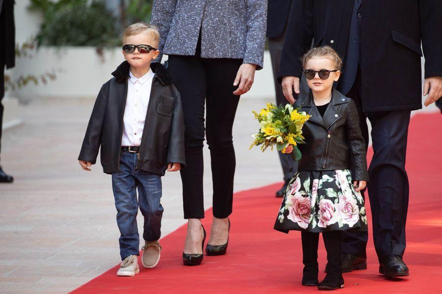 Le prince Jacques et la princesse Gabriella de Monaco à Monaco, le 22 février 2019