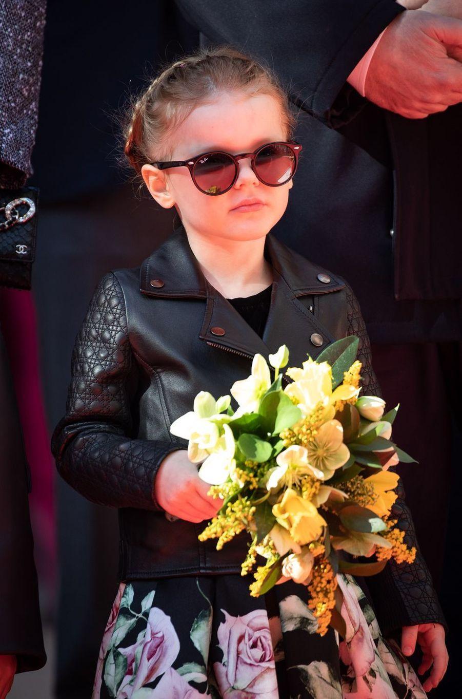 La princesse Gabriella de Monaco à Monaco, le 22 février 2019