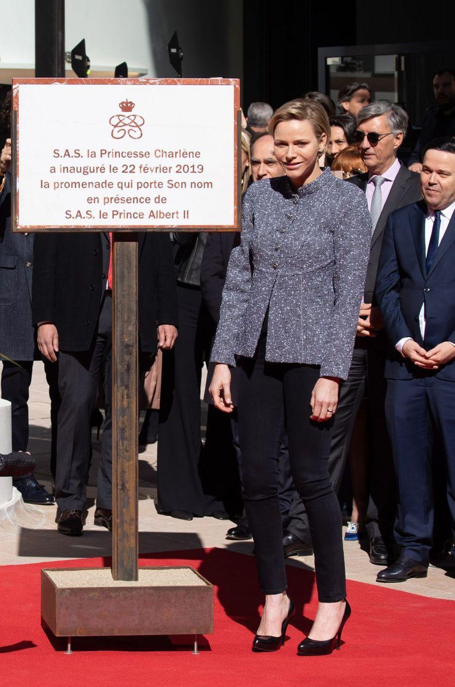 La princesse Charlène de Monaco à Monaco, le 22 février 2019