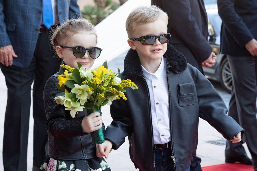 La princesse Gabriella et le prince Jacques de Monaco à Monaco, le 22 février 2019