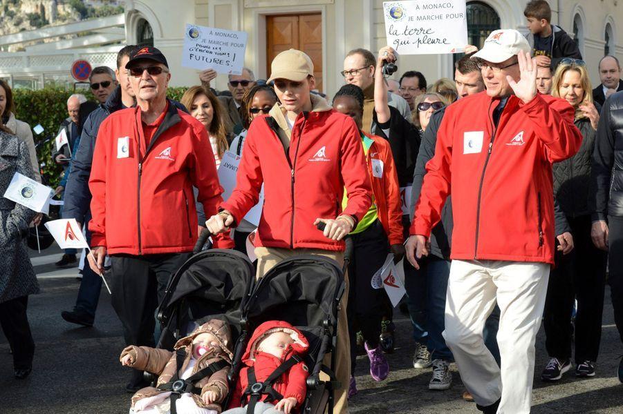 La princesse Gabriella et le prince Jacques de Monaco à Monaco, le 29 novembre 2015